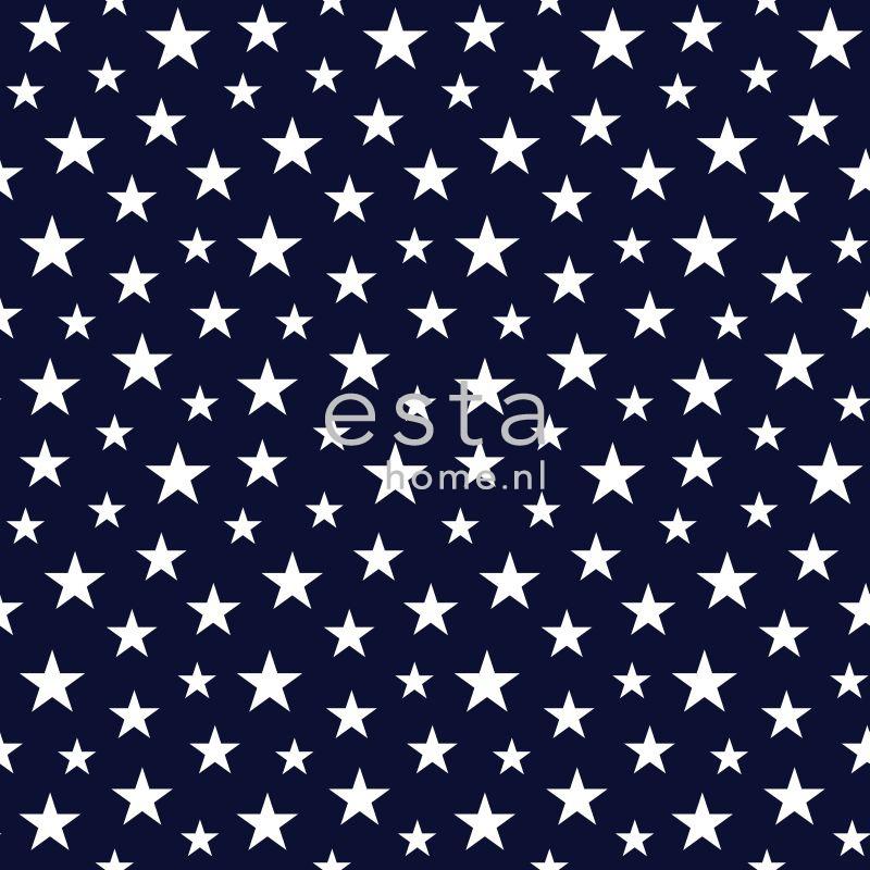 Wonderlijk Esta Everybody Bonjour behang sterren klein blauw wit - Esta home IN-11